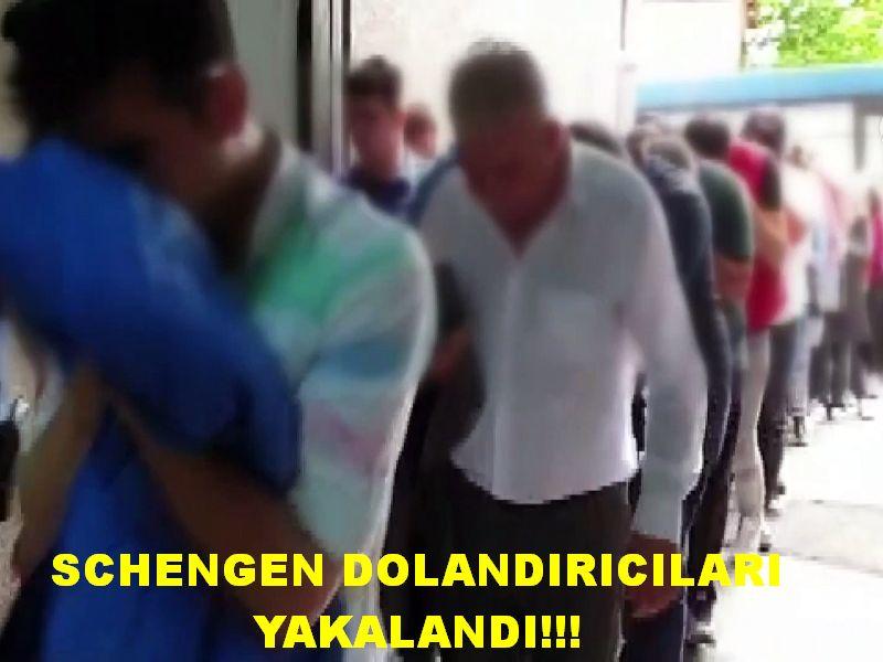 Schengen vizesi dolandırıcıları yakalandı!